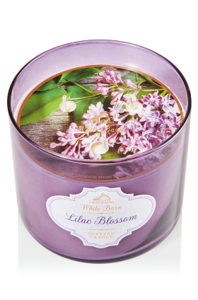 Lilac blossom candle